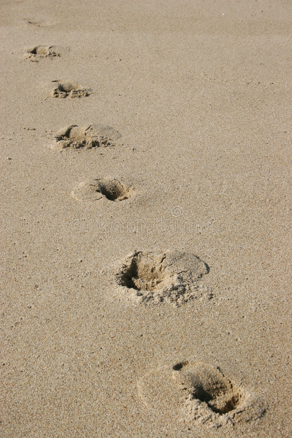 Download Footprints in the sand stock photo. Image of seaside, rocks - 503868