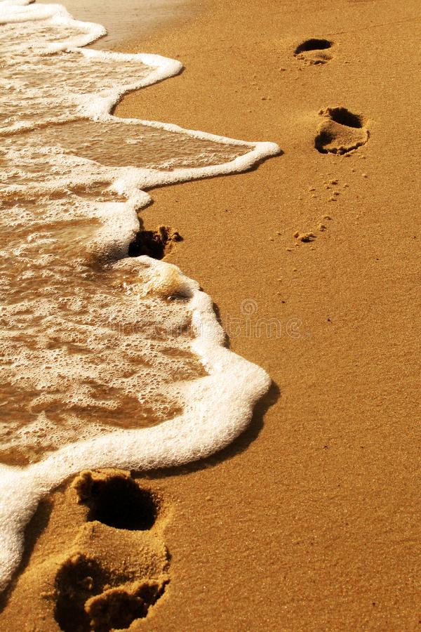 Download Footprints by the sea stock image. Image of disappear - 5821999