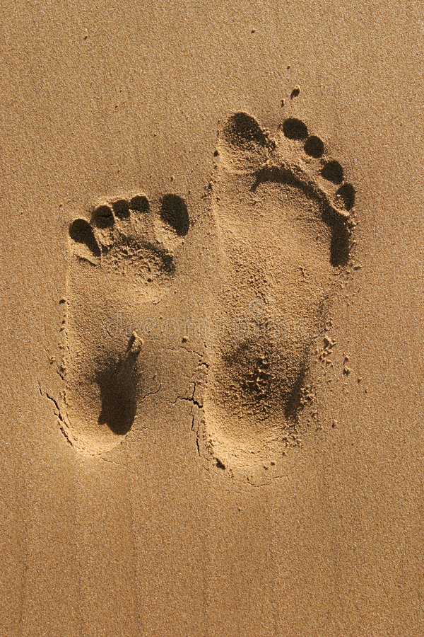 Download Footprints of two stock image. Image of adventure, human - 1151461