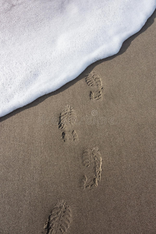 Download Footprints washed away stock image. Image of wave, bootprint - 33041839
