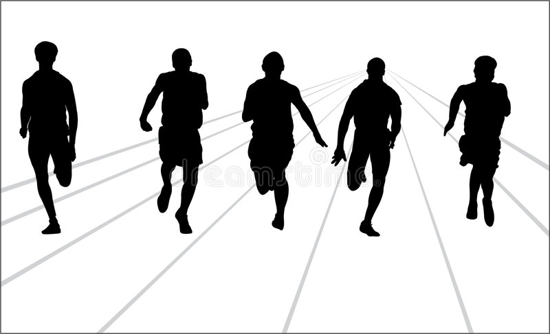 footrace wektor royalty ilustracja