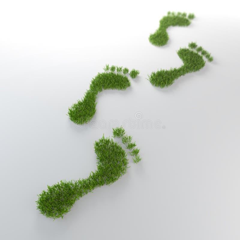 Footrpints de la hierba libre illustration