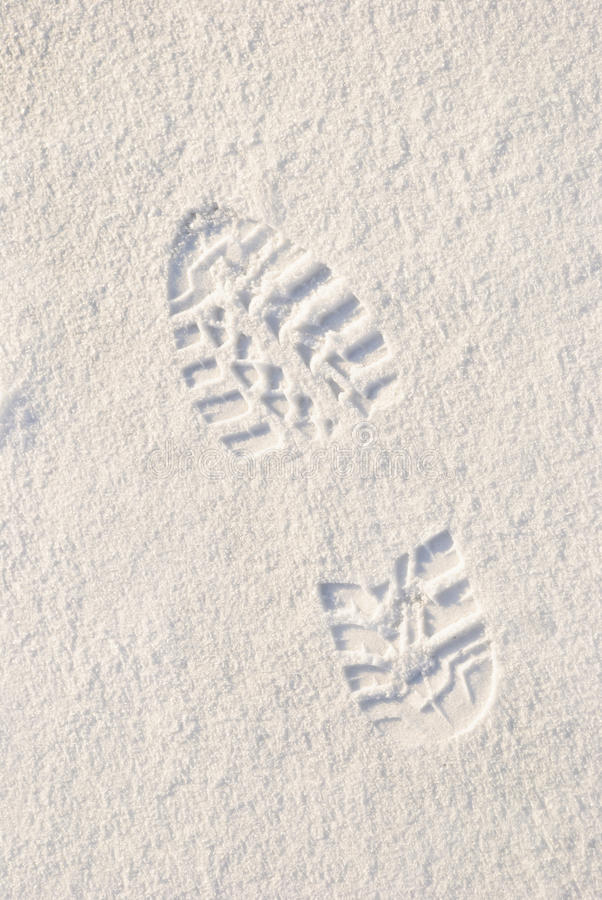 Download Footstep In Snow Royalty Free Stock Photo - Image: 23561145