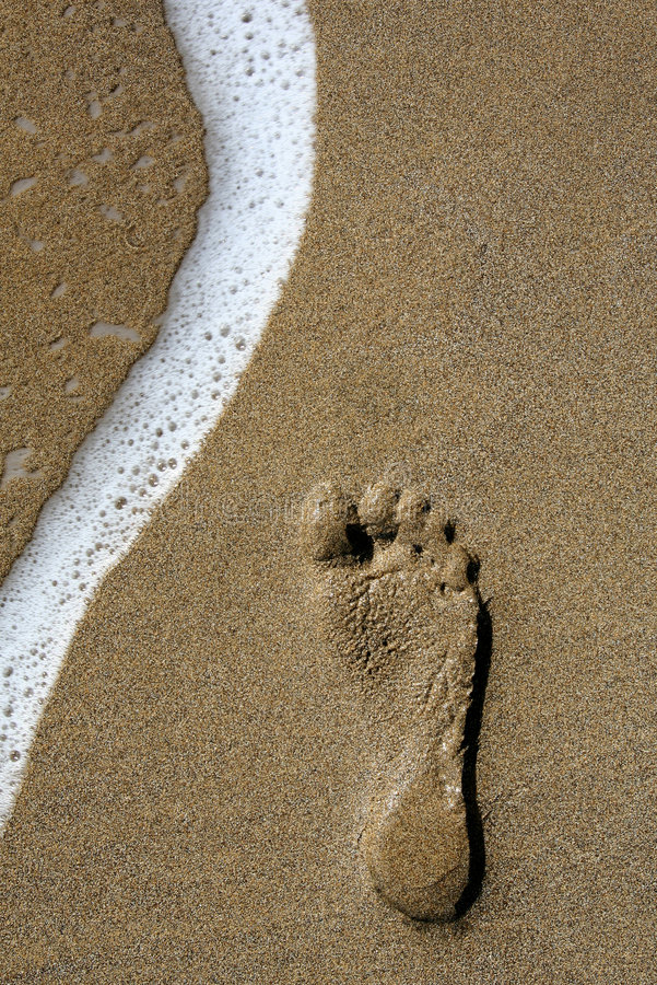 Footstep And Wave Stock Photography
