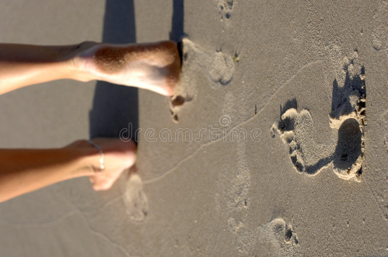 Footsteps 03 royalty free stock photo