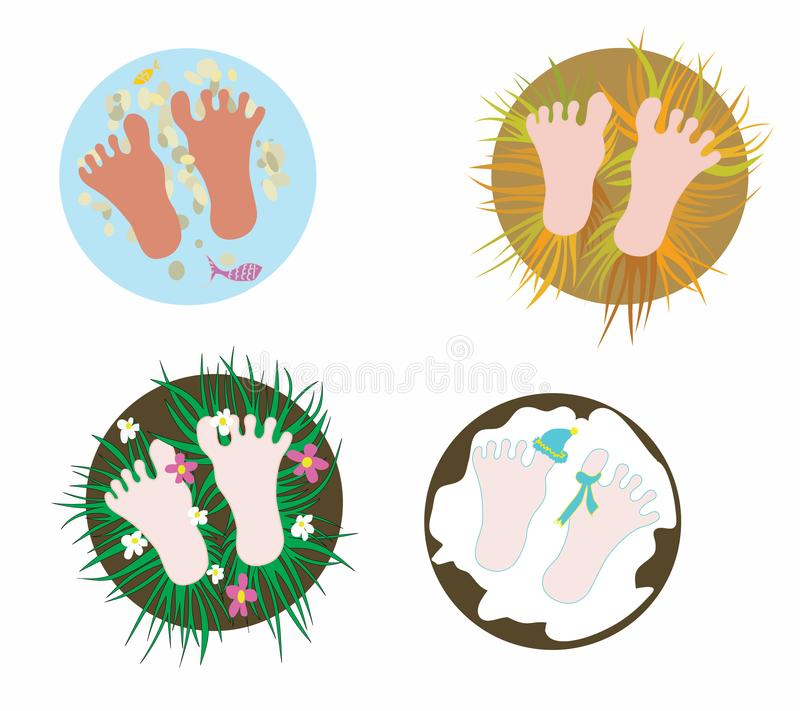 Download Footsteps stock vector. Illustration of wood, cold, climate - 14085095