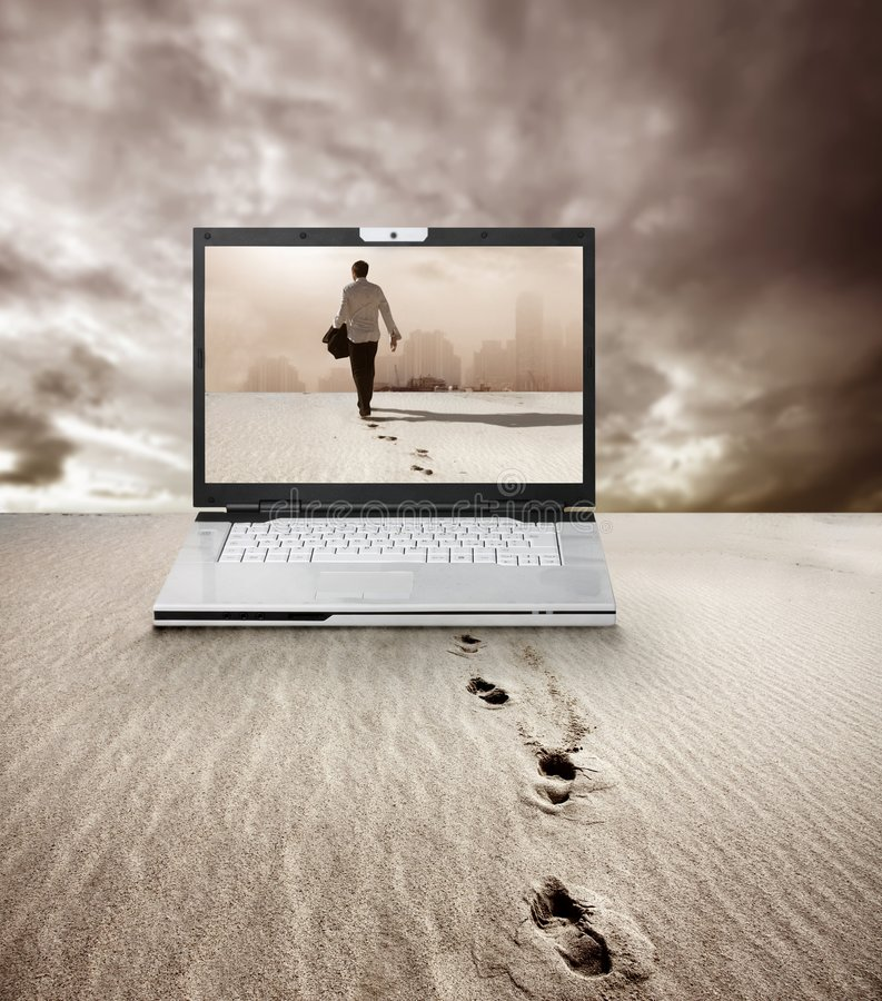 Download Footsteps stock photo. Image of extreme, desert, long - 8791578