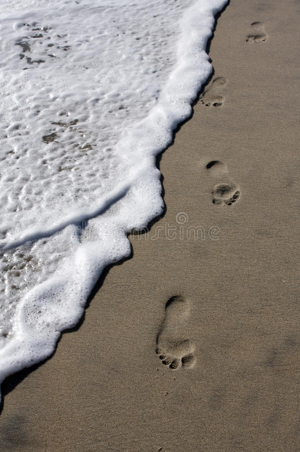 Download Footsteps on the beach stock photo. Image of travel, destination - 15572164