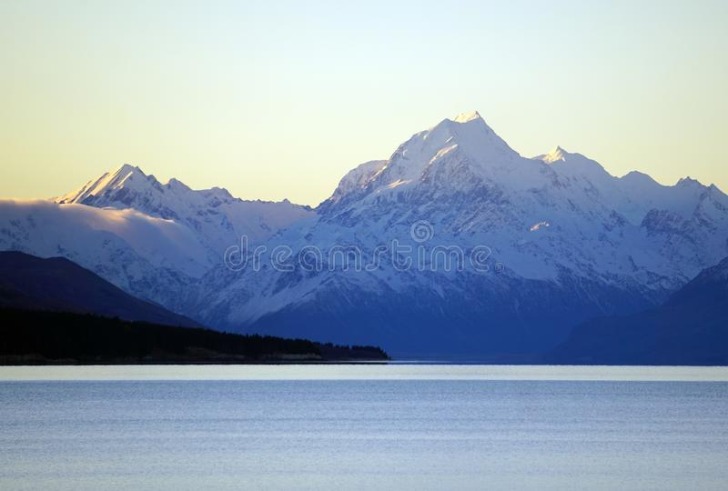Footsteps of Lord of the Rings: Mount Cook New Zealand stock photography