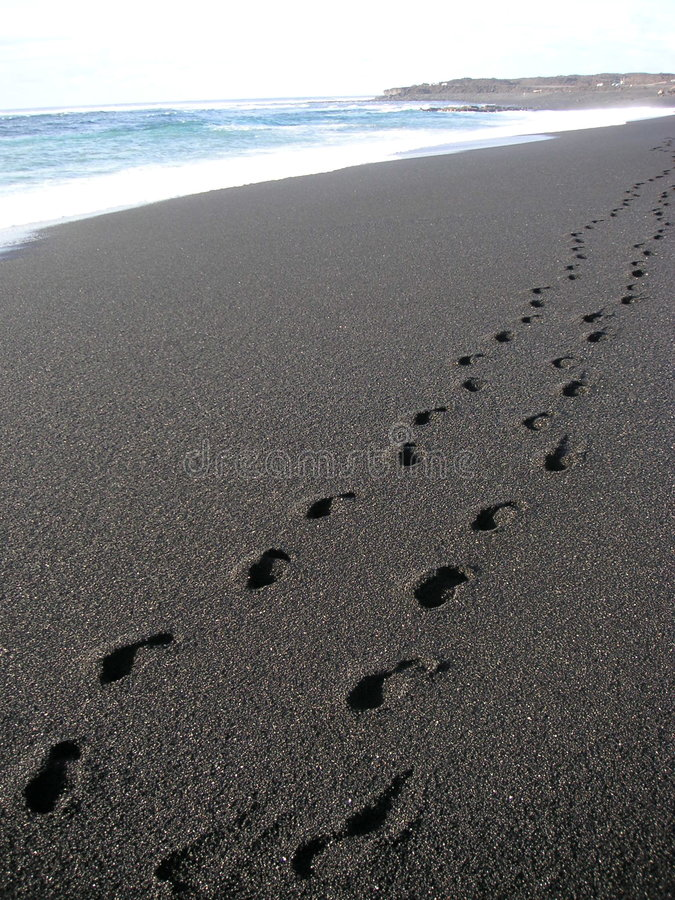 Free Footsteps On The Beach Stock Photo - 655550