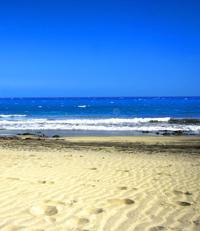 Free Footsteps On The Sand Stock Photos - 2292583