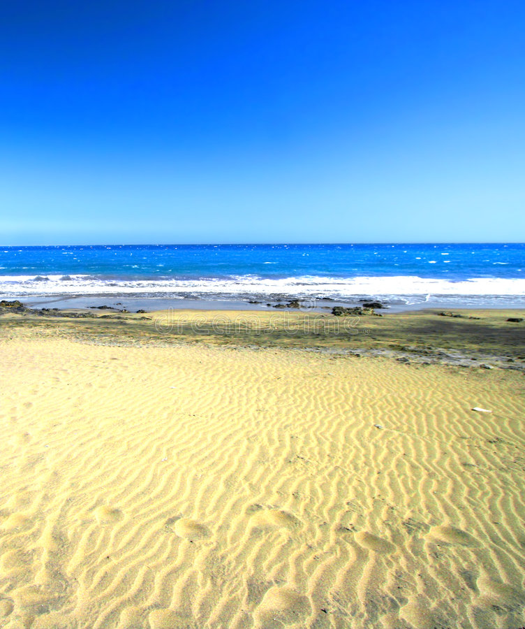 Free Footsteps On The Sand Stock Photography - 2292592