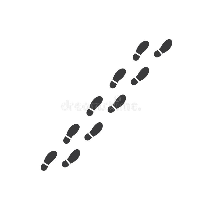 Free Footsteps Print Route Vector Illustration Design Stock Photos - 178883163