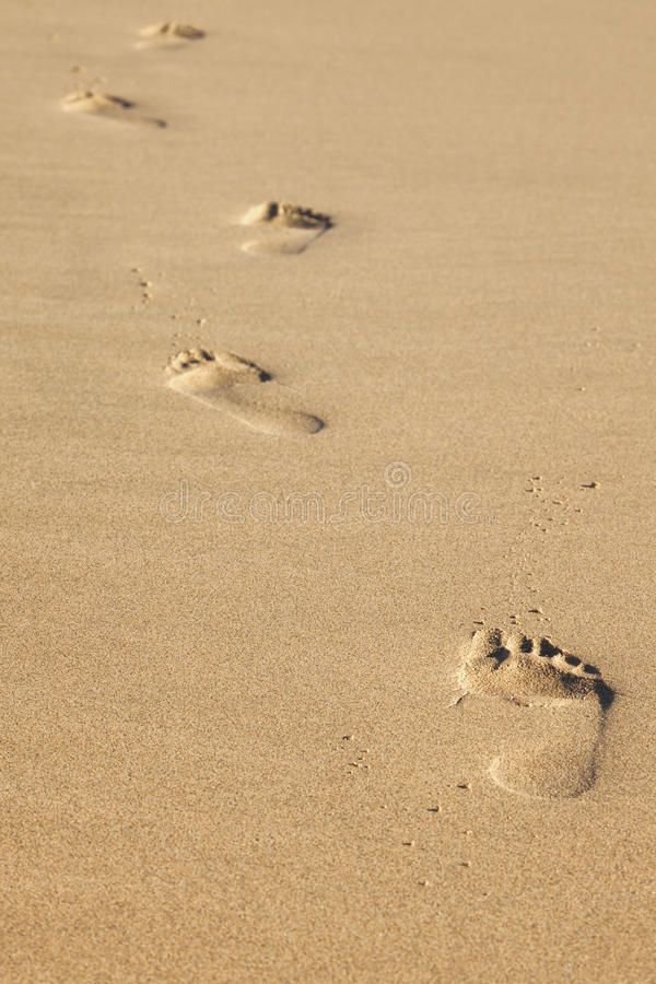 Download Footsteps in the sand stock image. Image of footprint - 28296389