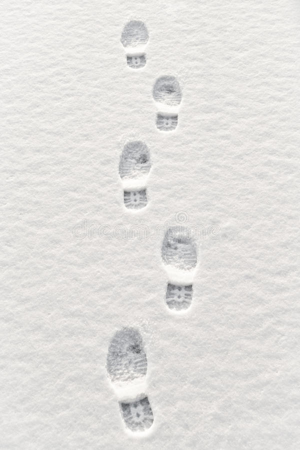 Download Footsteps In Snow Stock Image - Image: 25428611