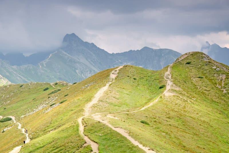 Foottpath im hohen Berg. lizenzfreies stockfoto