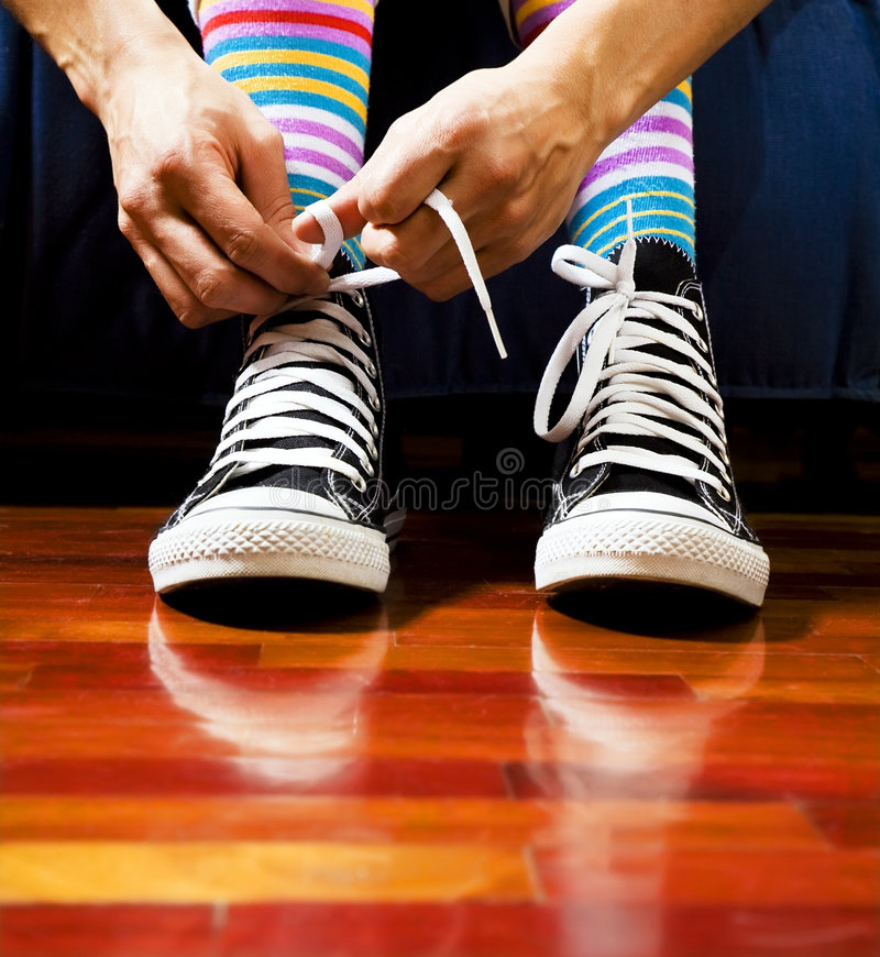 Download Footwear stock photo. Image of feet, parquet, teenager - 4435998