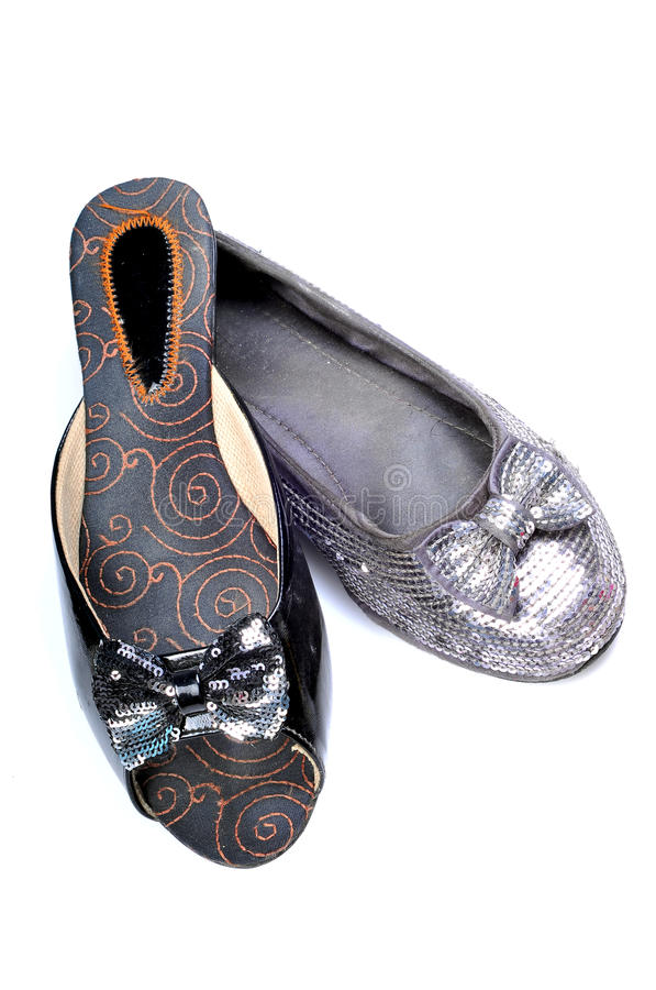 Footwear with bow stock image
