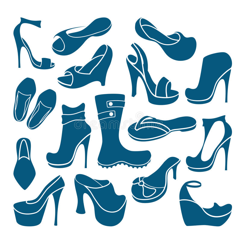 Download Footwear icons stock vector. Image of graphic, foot, female - 28801635