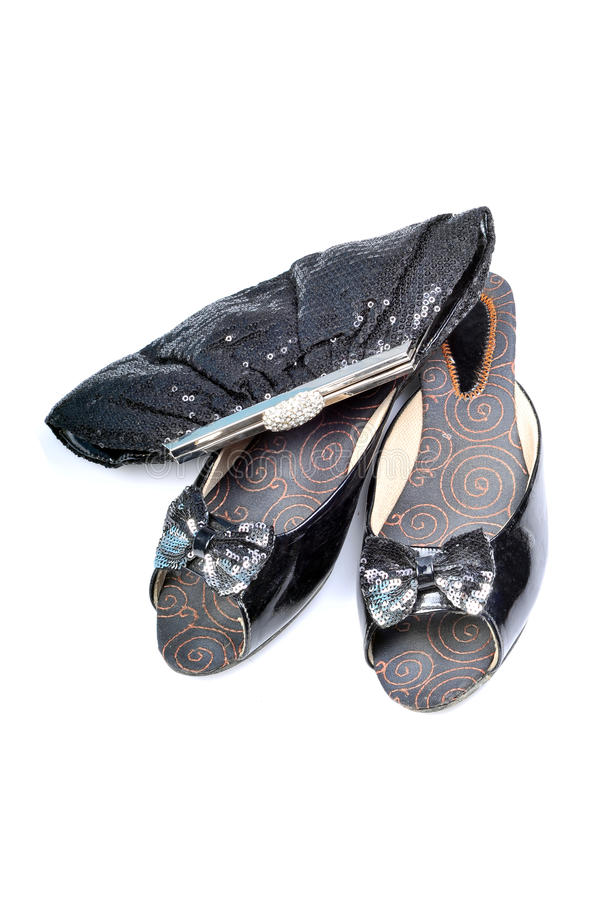 Footwear and purse royalty free stock photo