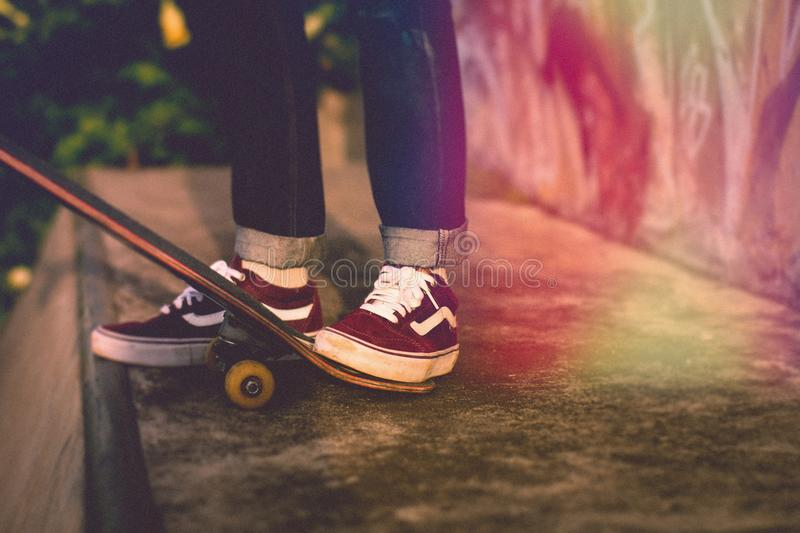 Footwear, Shoe, Skateboard, Skateboarding Equipment And Supplies royalty free stock photo