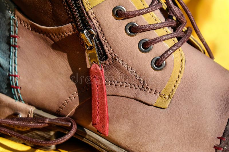 Footwear, Yellow, Brown, Shoe royalty free stock photo