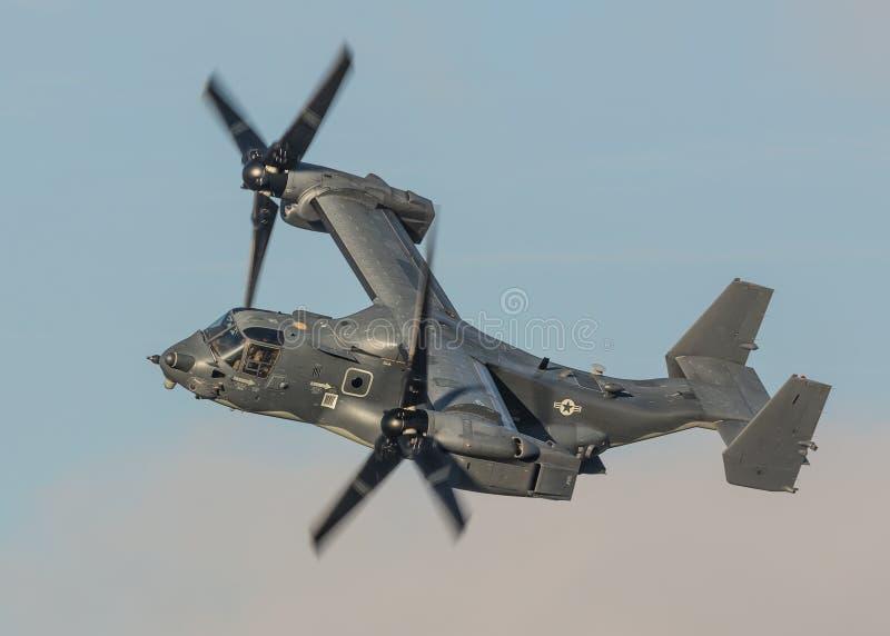 Força aérea de E.U. do helicóptero da águia pescadora foto de stock