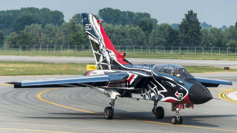 Força aérea do italiano do furacão PA-2000 de Panavia imagens de stock royalty free