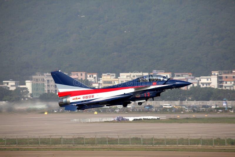 Força aérea J10S J10 de China imagem de stock