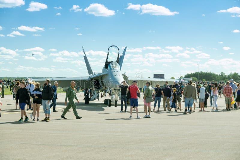 Força aérea sueco Airshow, Linkoping, Suécia imagem de stock royalty free
