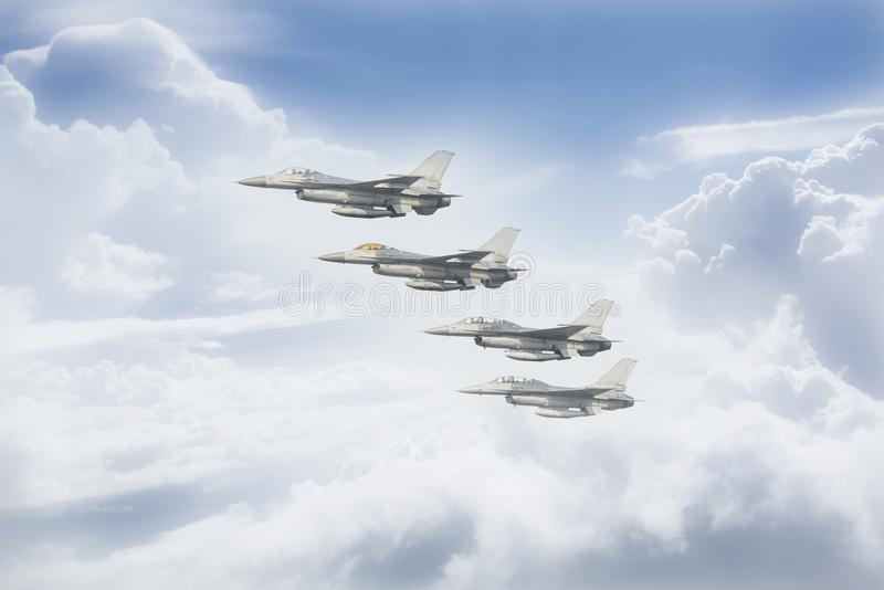 A força aérea tailandesa está voando fotografia de stock