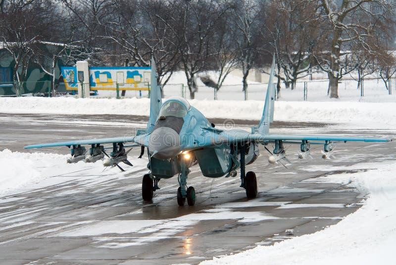 Força aérea ucraniana MiG-29 imagem de stock