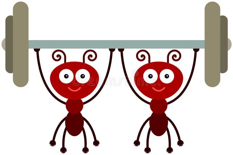 Força das formigas ilustração stock