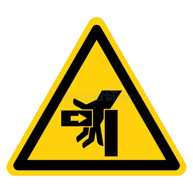 Força do esmagamento de SHand do isolado esquerdo do sinal do símbolo no fundo branco, ilustração do vetor ilustração royalty free