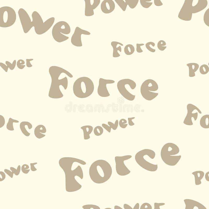 Força e potência ilustração stock