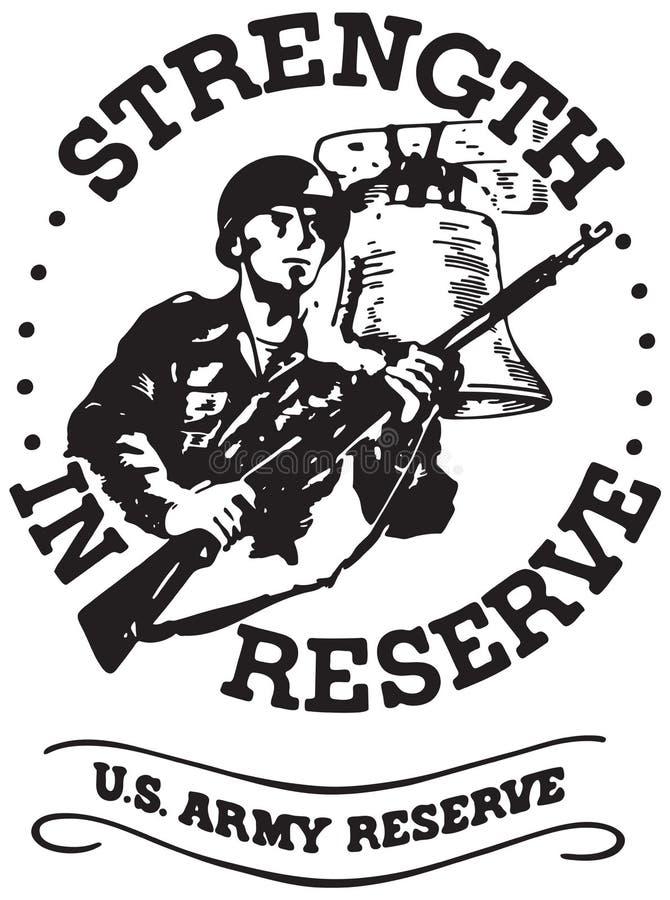 Força na reserva ilustração royalty free