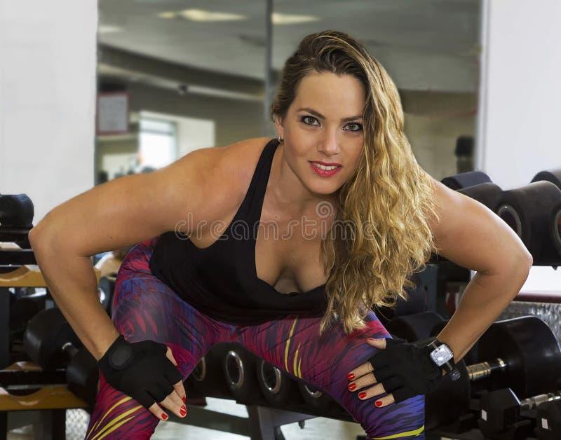 Força sensual no Gym fotografia de stock royalty free