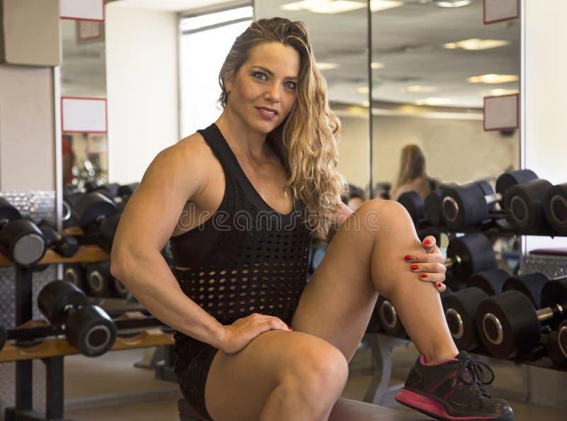 Força sensual no Gym imagens de stock royalty free