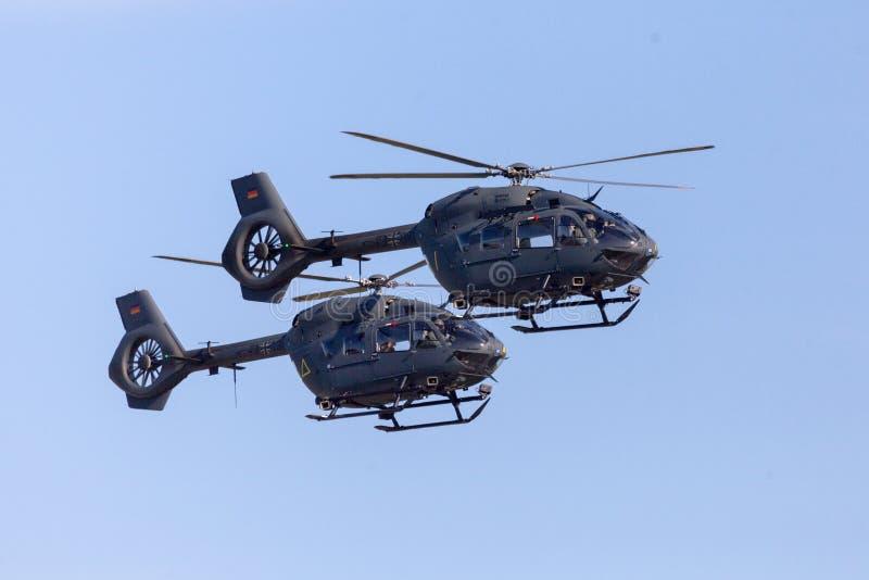 Forças armadas alemãs H145M de Airbus imagem de stock royalty free