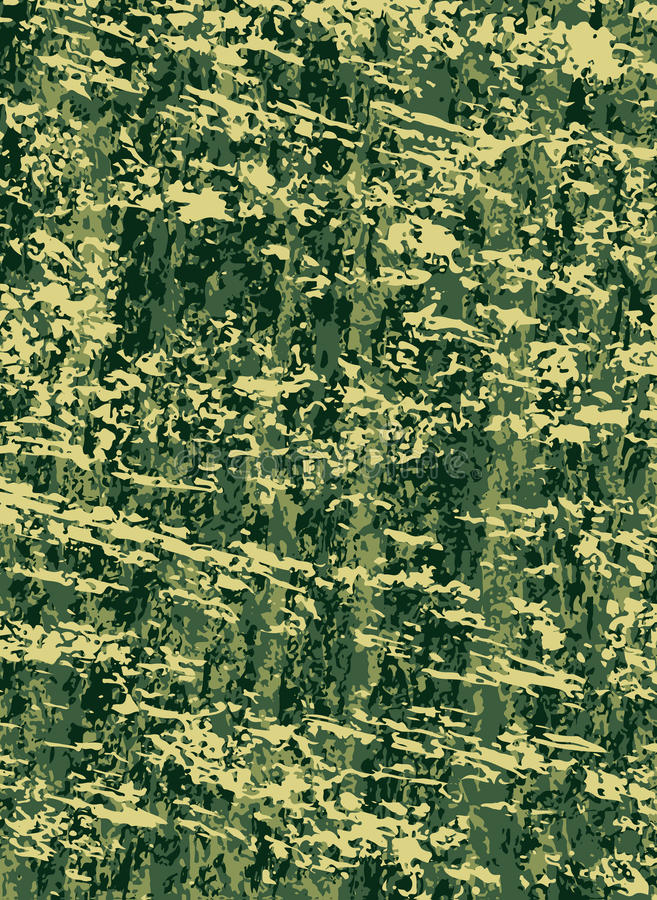 Forças armadas do vetor ou fundo abstrato da camuflagem da caça Textura Khaki ilustração stock