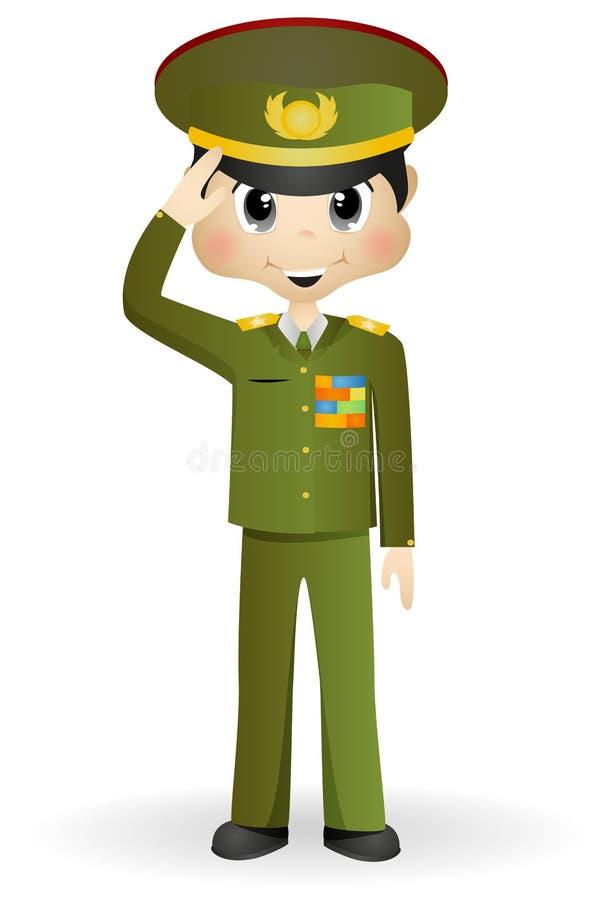 Forças armadas gerais ilustração royalty free