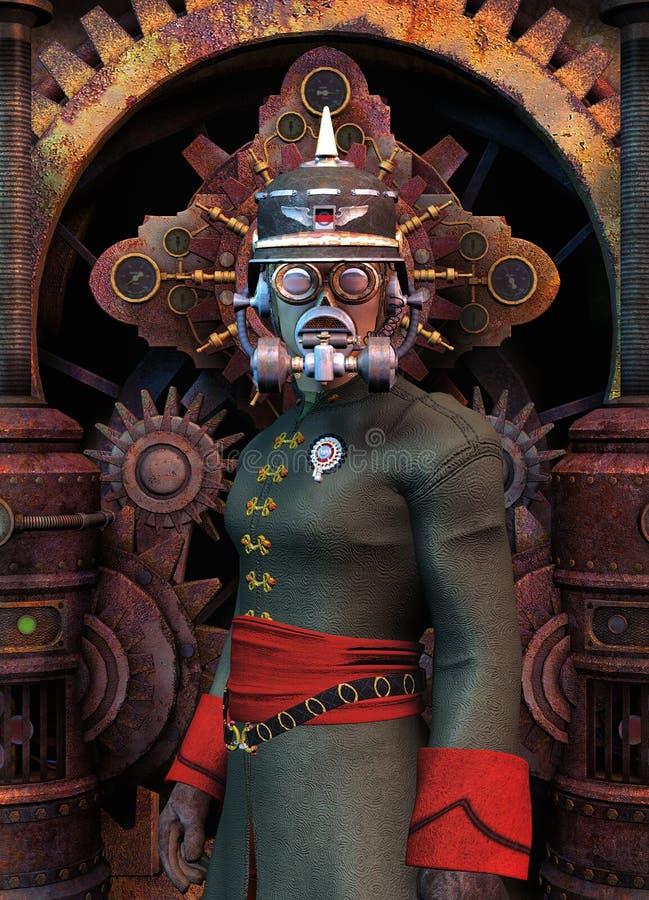 Forças armadas gerais de Steampunk ilustração royalty free