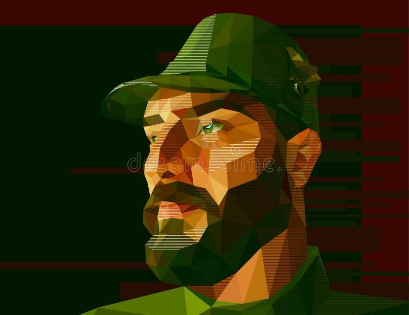 Forças armadas masculinos no uniforme ilustração do vetor