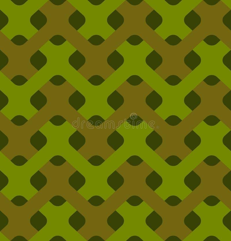 Forças armadas que tecem o teste padrão sem emenda Textura abstrata do plexo do exército ilustração royalty free