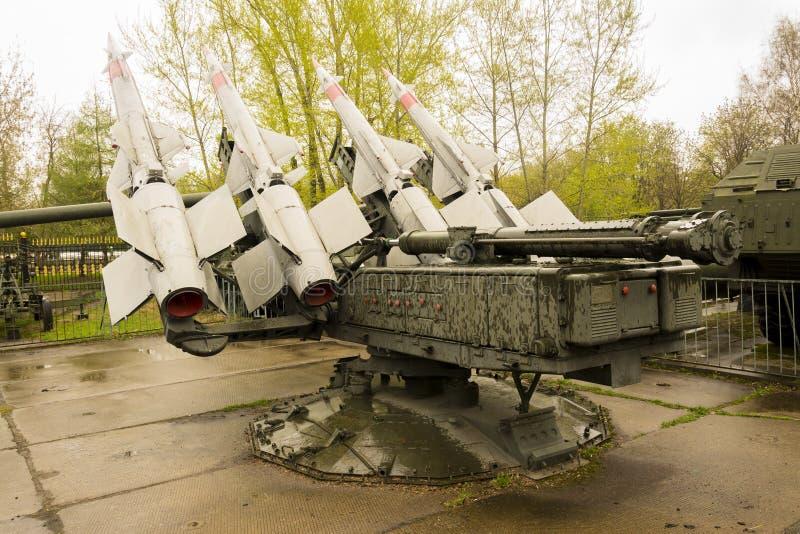 Forças armadas Rocket Launcher Back View do russo fotos de stock