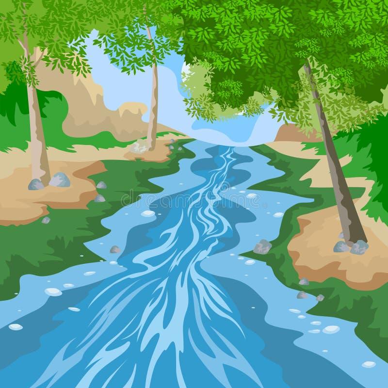 Download Forêt illustration stock. Illustration du forme, illustration - 56484036