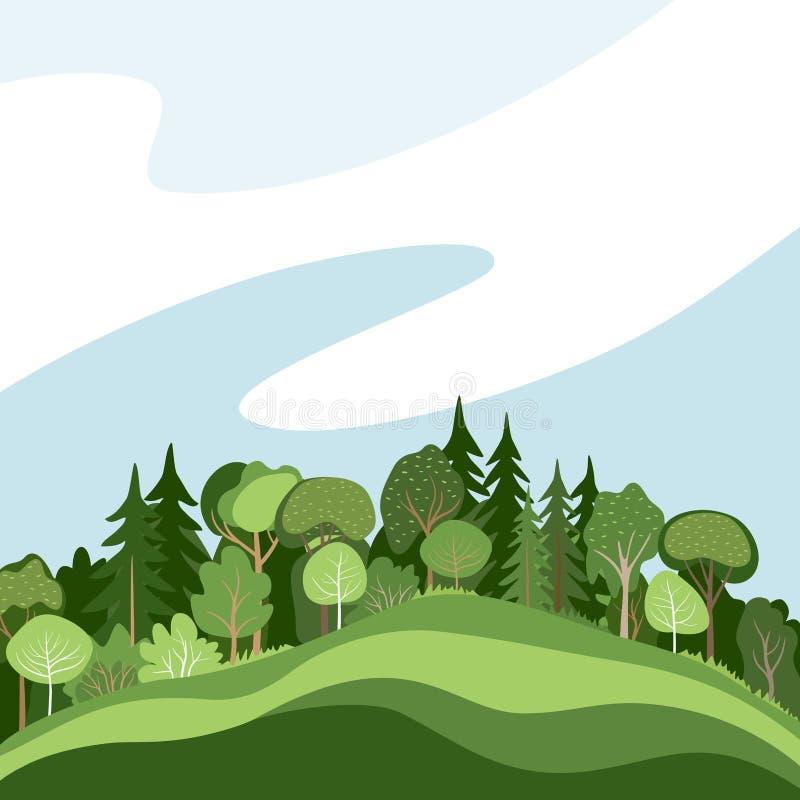 Forêt abstraite illustration de vecteur