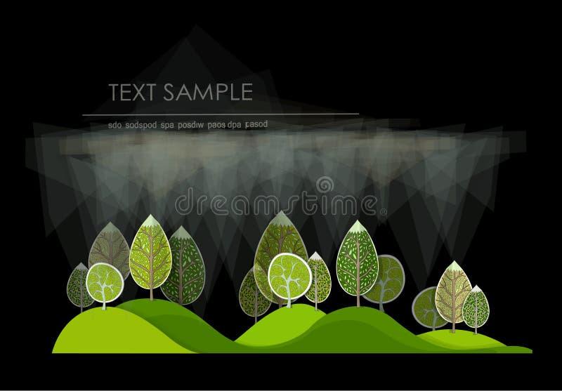 Forêt abstraite illustration libre de droits