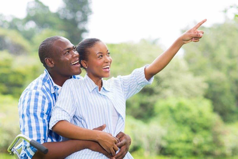 Forêt africaine de couples photos libres de droits