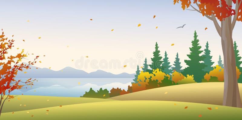 Forêt automnale illustration stock